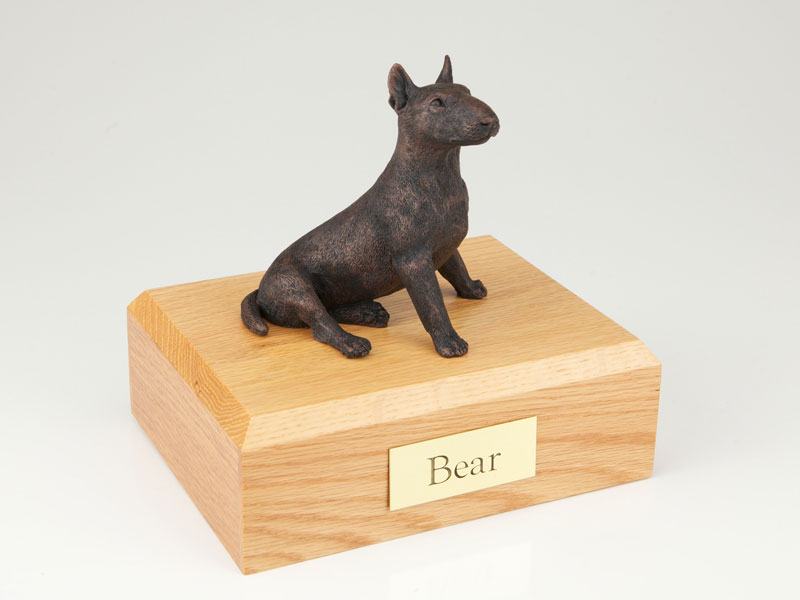 Dog, Bull Terrier, Bronze - Figurine Urn