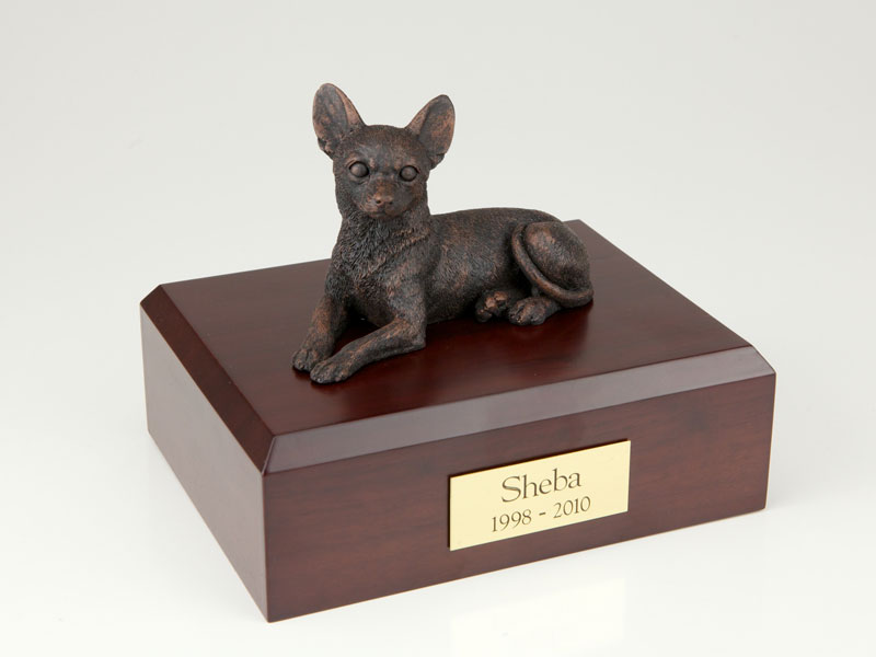 Dog, Chihuahua, Bronze - Figurine Urn