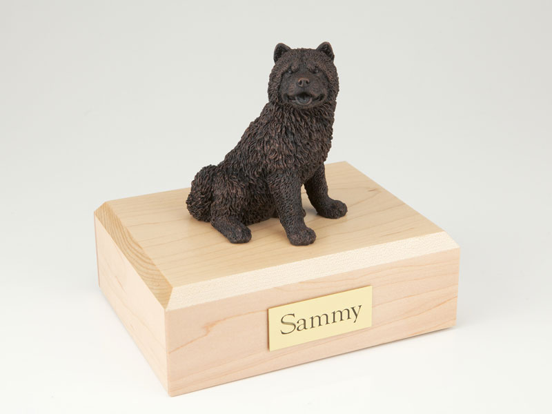 Dog, Chow Chow, Bronze - Figurine Urn