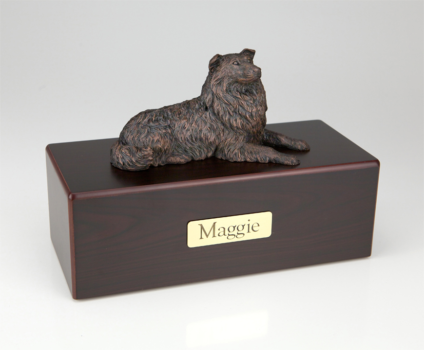 Dog, Collie, Bronze - Figurine Urn