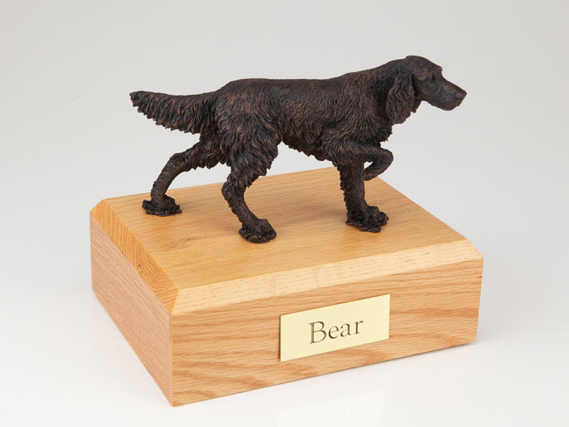 Dog, English Setter, Bronze - Figurine Urn