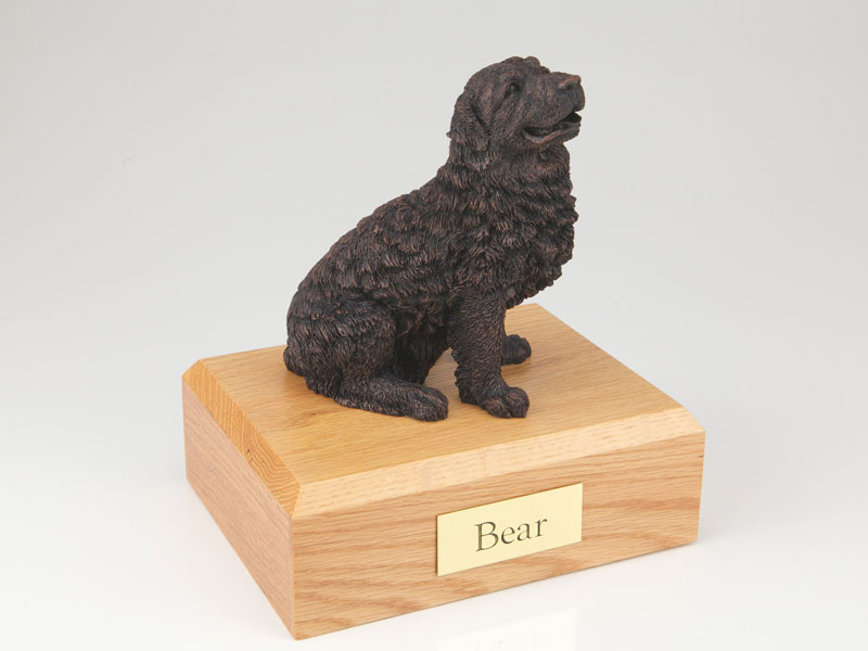Dog, Newfoundland, Bronze - Figurine Urn