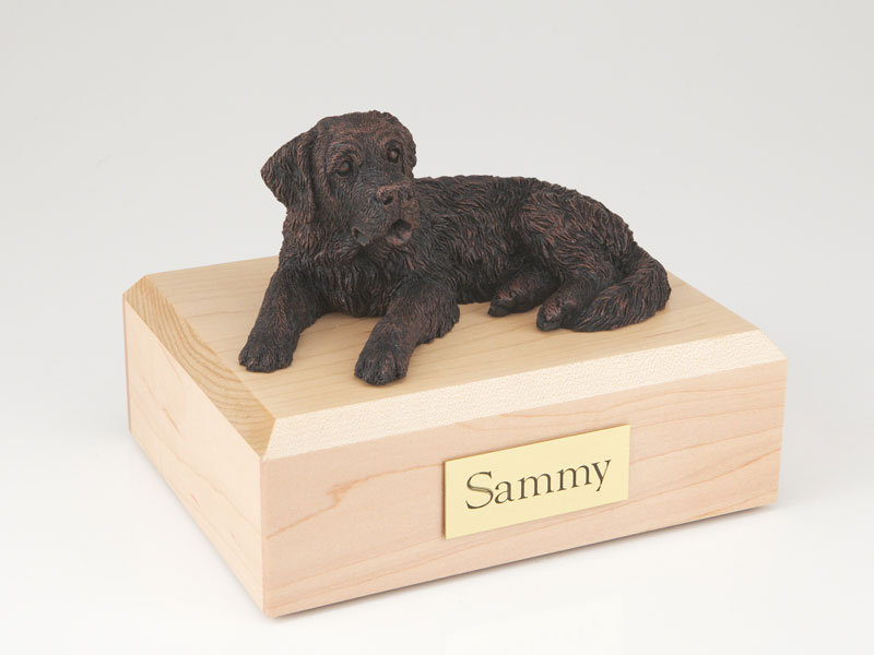 Dog, Saint Bernard, Bronze - Figurine Urn