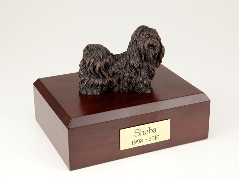 Dog, Shih Tzu, Bronze - Figurine Urn