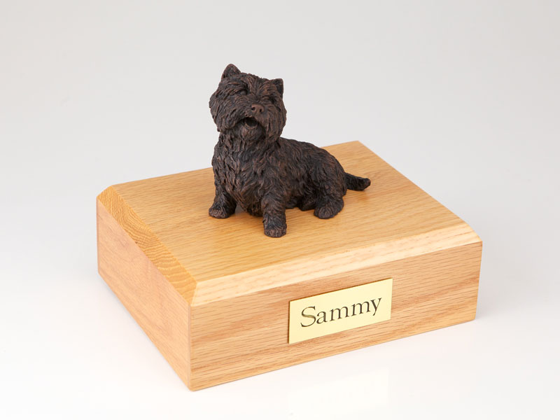 Dog, Westie, Bronze - Figurine Urn