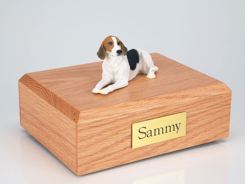 Dog, American Foxhound - Figurine Urn
