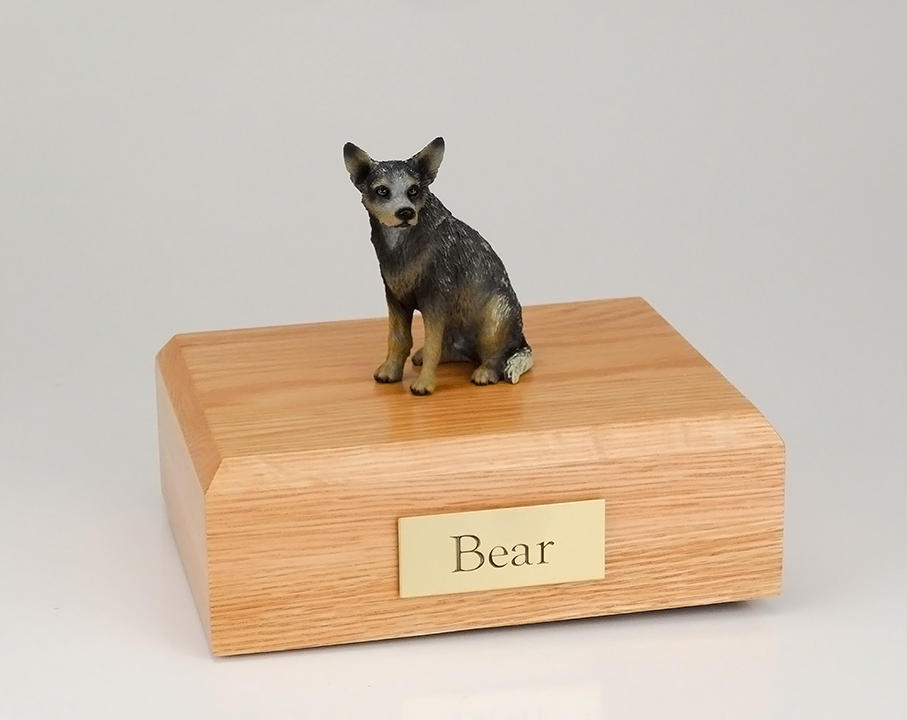 Dog, Australian Cattle Dog, Blue/Gray - Figurine Urn