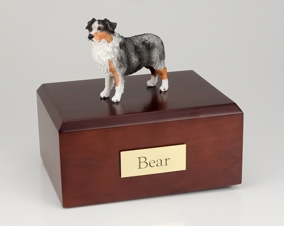 Dog, Australian Shepherd, Blue - Figurine Urn