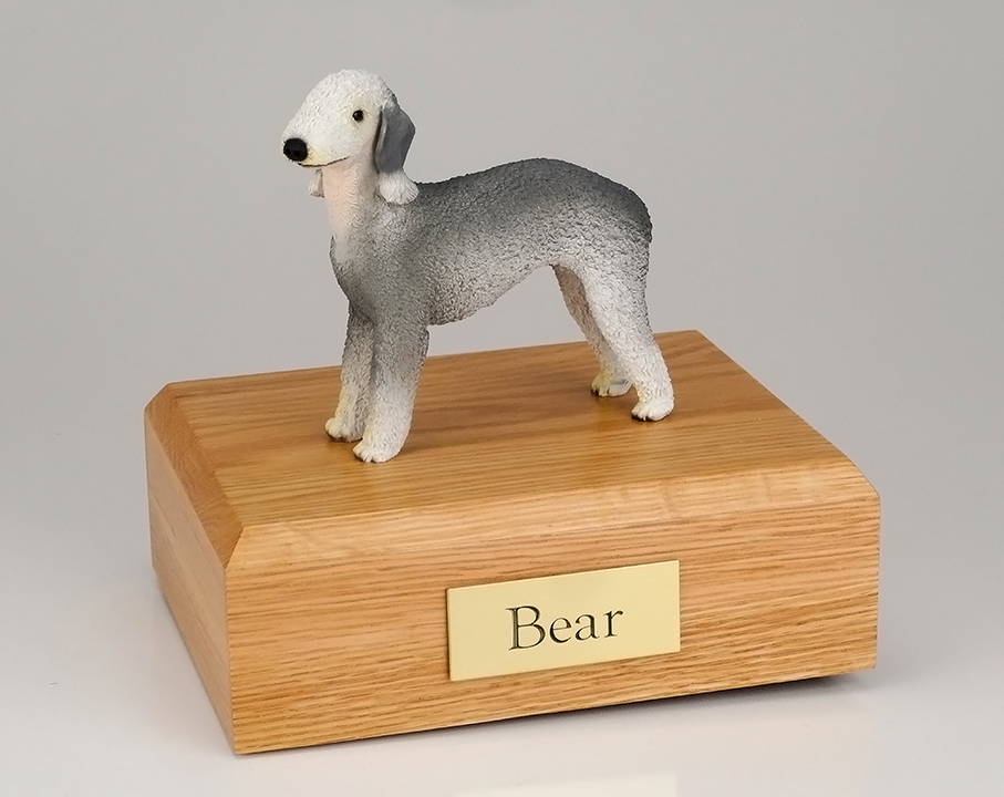 Dog, Bedlington Terrier - Figurine Urn