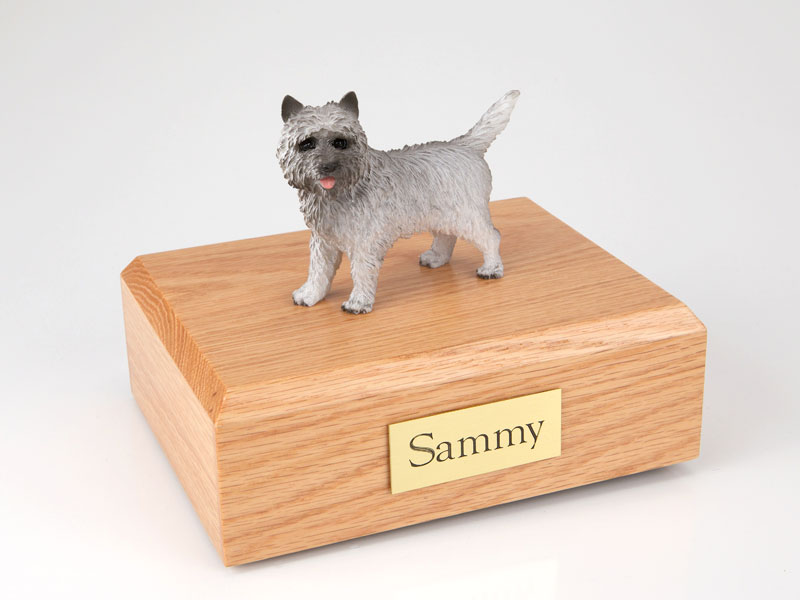 Dog, Cairn Terrier, Gray - Figurine Urn
