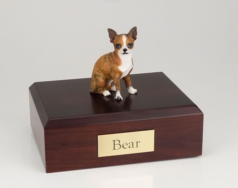 Dog, Chihuahua, Brindle - Figurine Urn