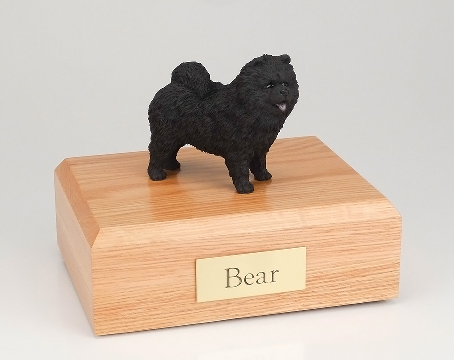 Dog, Chow, Black - Figurine Urn