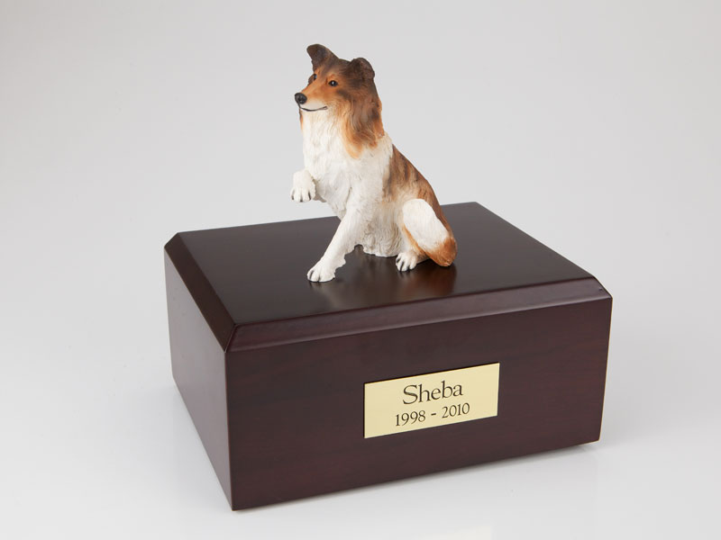 Dog, Collie, Paw Up - Figurine Urn