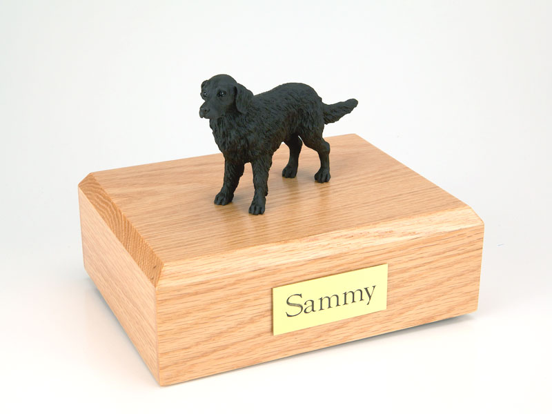 Dog, Flat Coated Retriever - Figurine Urn
