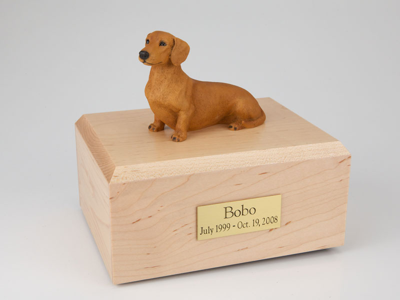 Dog, Dachshund, Red/Brown - Figurine Urn