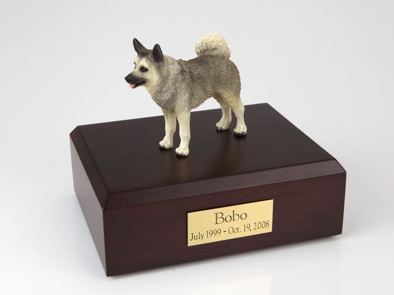 Dog, Norwegian Elkhound - Figurine Urn
