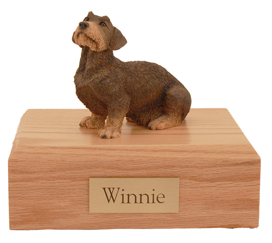 Dog, Dachshund, Wire Haired - Figurine Urn