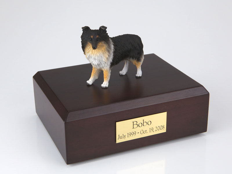 Dog, Sheltie, Tri-Color - Figurine Urn