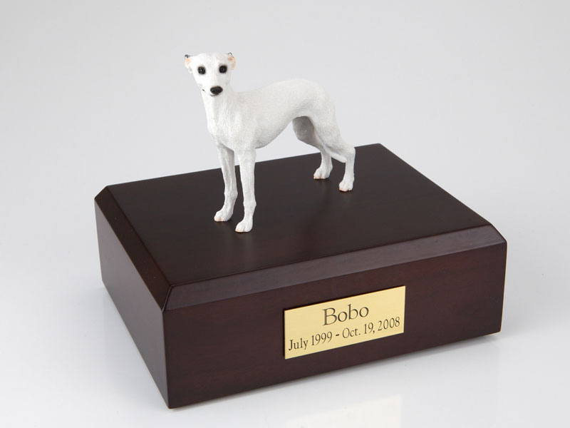 Dog, Whippet, White - Figurine Urn