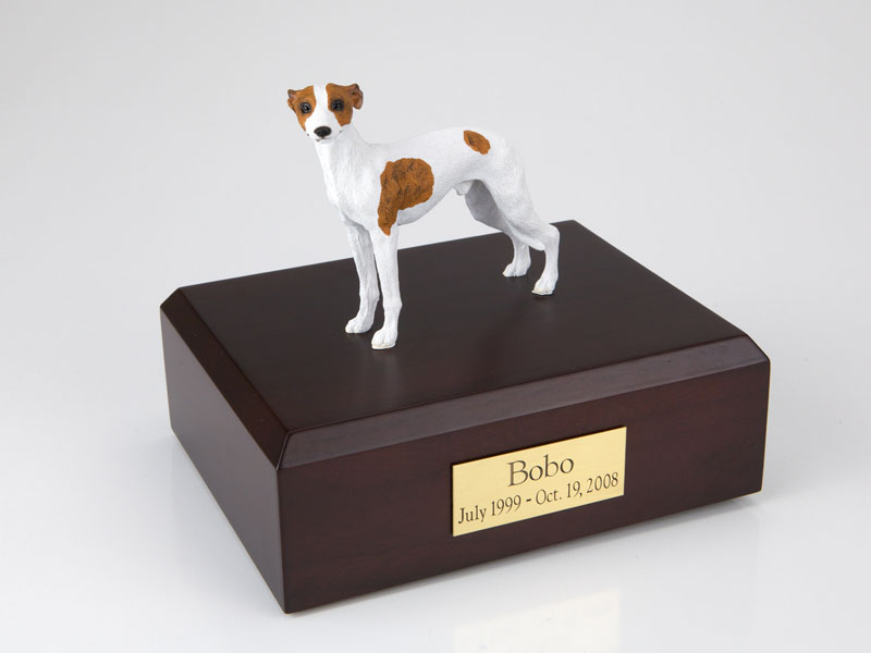 Dog, Whippet, White/Spot - Figurine Urn