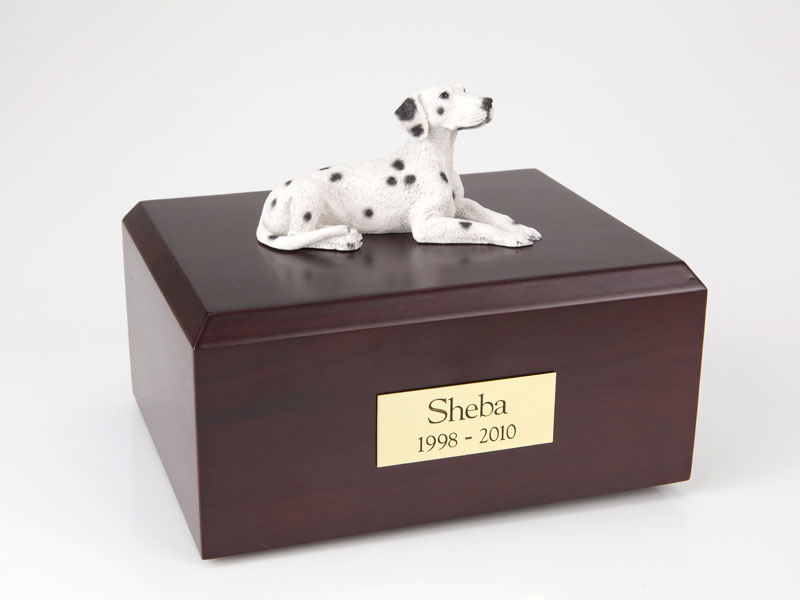 Dog, Dalmatian, Laying - Figurine Urn