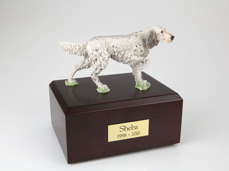 Dog, English Setter, Standing - Figurine Urn