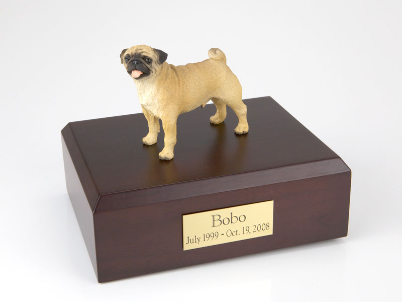 Dog, Pug - Figurine Urn