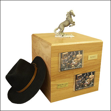 Mustang, Gray - Horse Cremation Urn