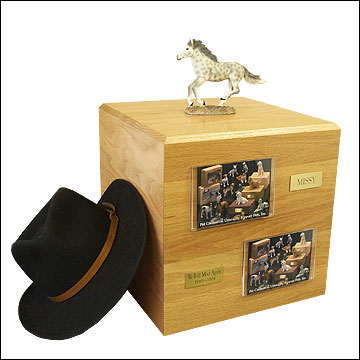 Dapple, Gray, Running - Horse Cremation Urn