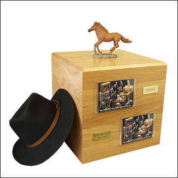 Chesnut, Running - Horse Cremation Urn