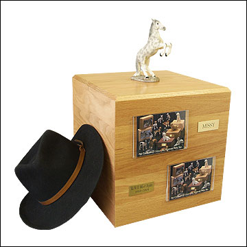 Dapple, Gray, Rearing - Horse Cremation Urn